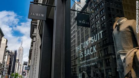 A J.Crew store on 5th Avenue in New York City. The dealer announced on Monday that it had filed for bankruptcy protection.
