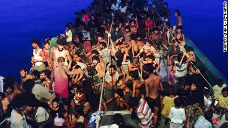 In 2015 hundreds of Rohingya migrants were trapped in the sea aboard a boat.