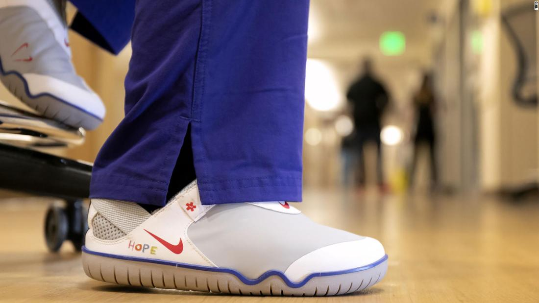 Nike said it is donating 30,000 of their Air Zoom Pulse to frontline health care workers.