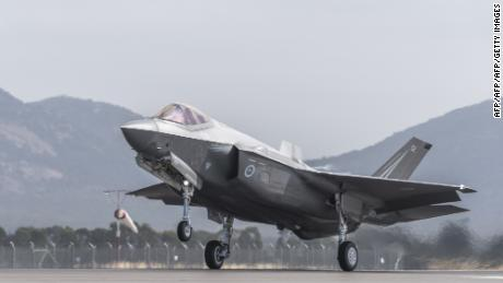 A Royal Australian Air Force F-35 airplane takes off during the Australian International Airshow at Avalon airport on March 3, 2017.
