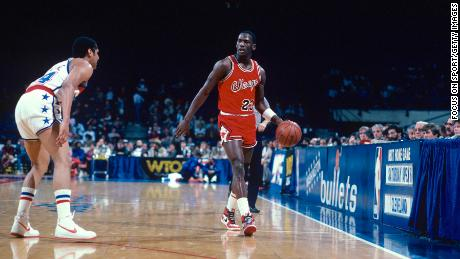 Jordan wore the model during his rookie year in the NBA.