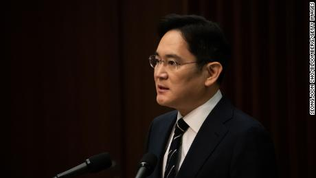 Jay Y. Lee, vice president of Samsung Electronics, spoke at a press conference in Seoul on Wednesday.