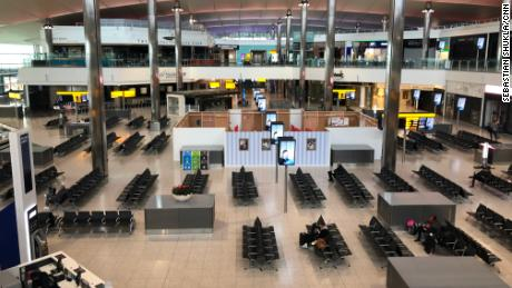 An almost empty terminal in Heathrow could be a new normal.