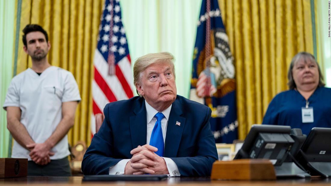 Trump disagrees with nurse calling PPE availability 'sporadic'