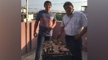 Arturo Ramos with his father Flavio Ramos- March 2019