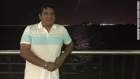 Flavio Edmundo Ramos Yagual during an evening walk in Malaya de Guayaquil, Ecuador - December 12th