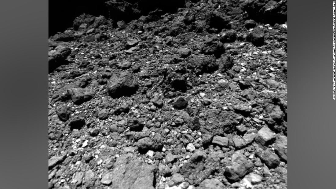 The asteroid near Earth Ryugu made an