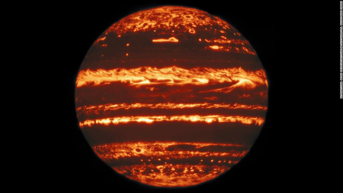 New images reveal the heart of Jupiter's storms and the glow of the planet's jack-o-lantern