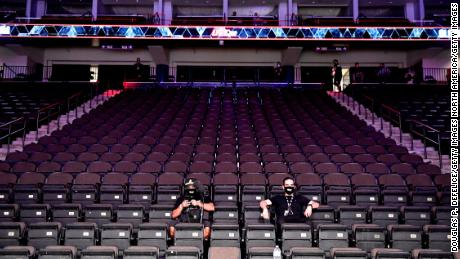 UFC 249 took place without fans on Saturday due to the ongoing coronavirus pandemic.