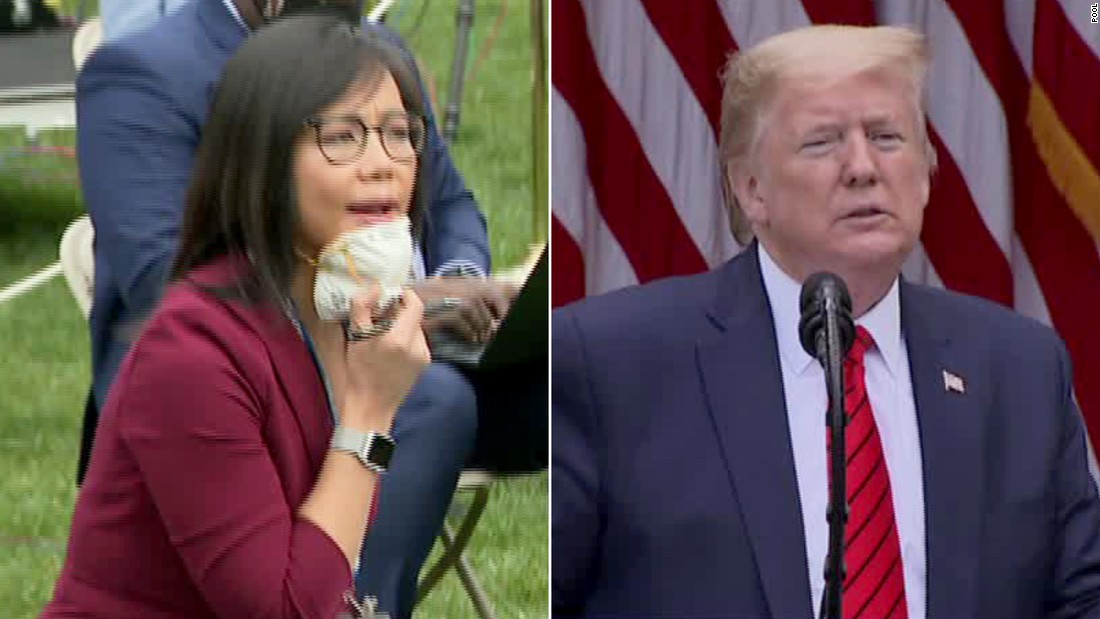 A reporter questioned Trump and he told her to 'ask China'