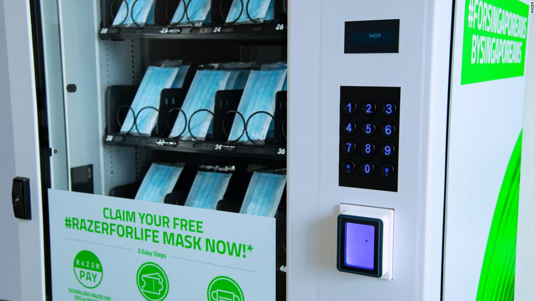 Razer Singapore: vending machines to provide millions of free face masks to residents