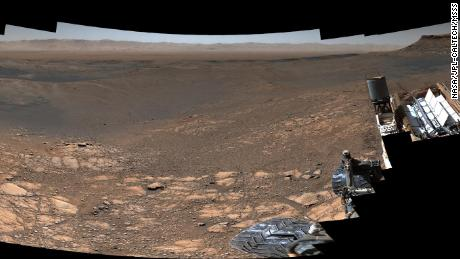 The Curiosity rover captures a high resolution panorama of his home on Mars