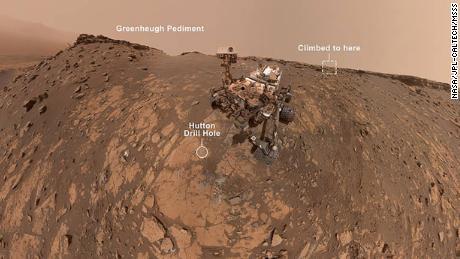 The Curiosity rover shares a new selfie, climbs a steep hill on Mars