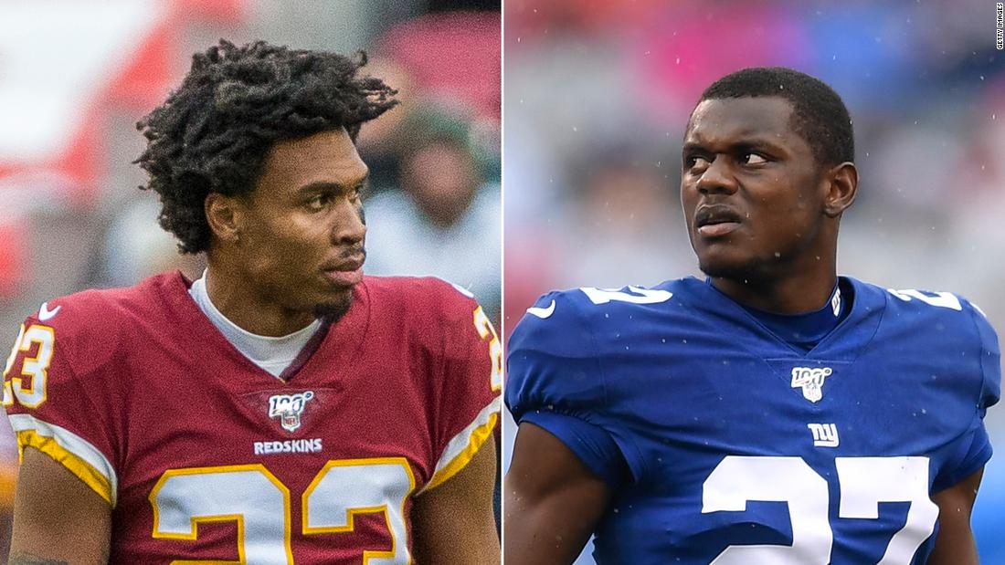 Quinton Dunbar, left, and Deandre Baker are both cornerbacks in the NFL.