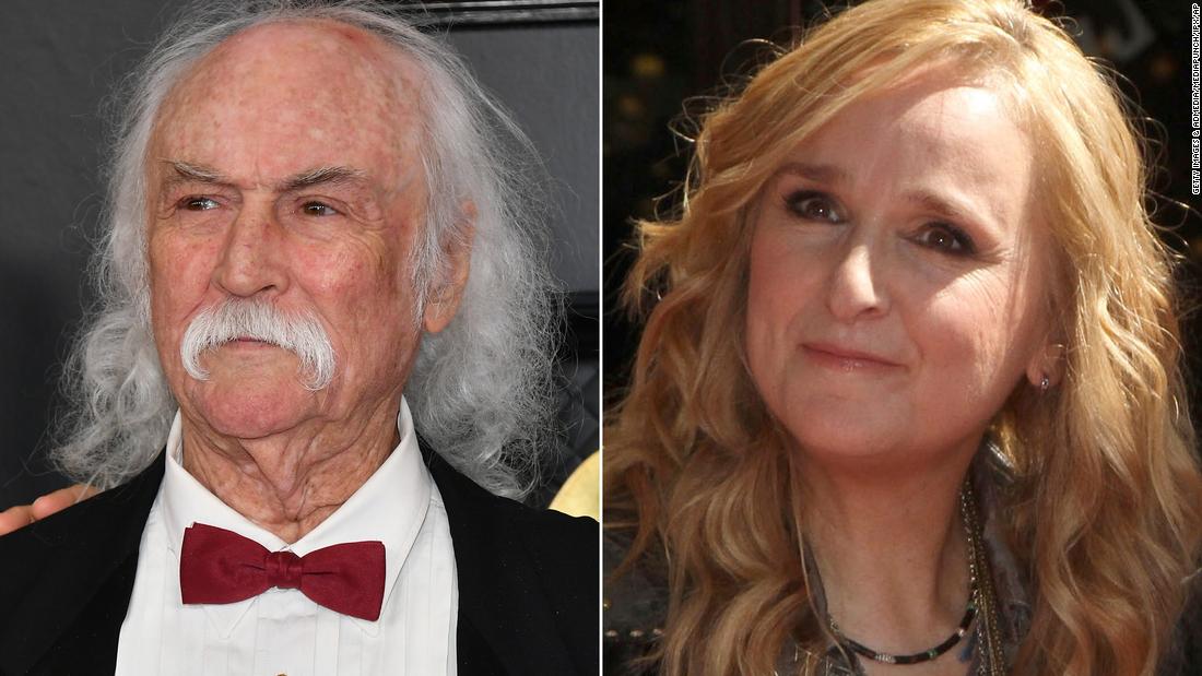 Sperm donor David Crosby responds to the death of Melissa Etheridge's son