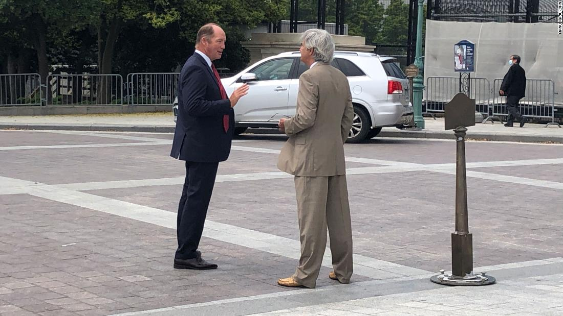 Republican Rep. Ted Yoho of Florida is seen Friday near the US Capitol.