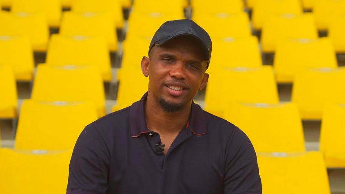 Samuel Eto'o celebrates for more than football