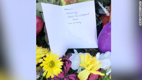 The person who left note at Ahmaud Arbery's memorial just wanted to share condolences, investigators say
