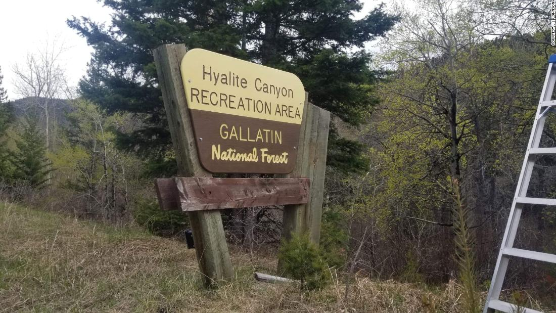 A sign from the National Forest in Montana has disappeared