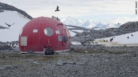 Survival pod on the island of Anchorage, Antarctica, 2018.