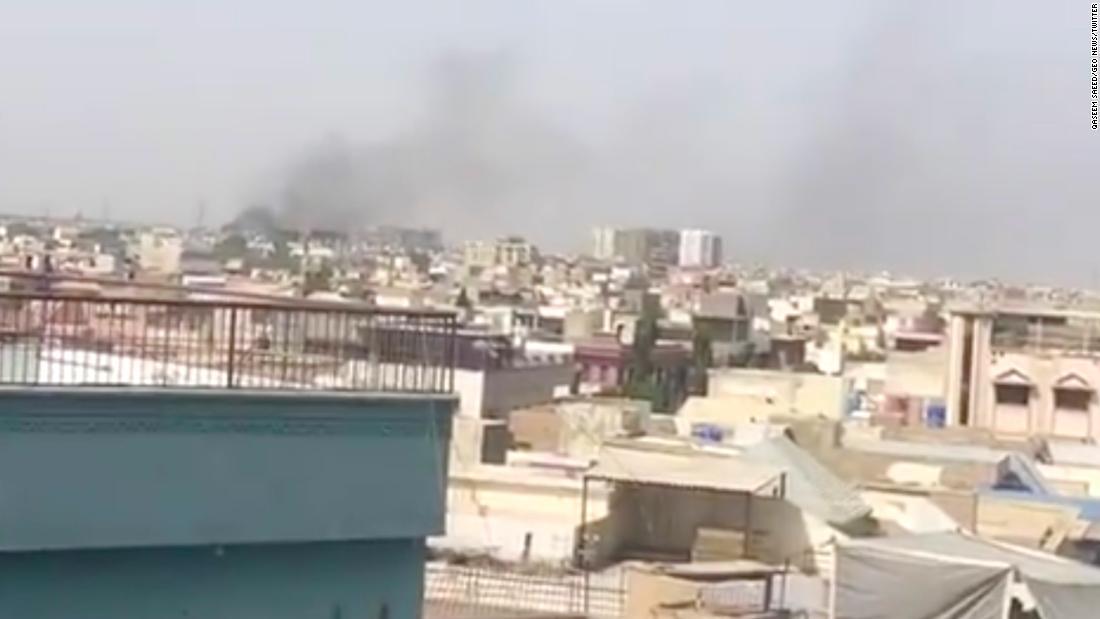 The Pakistan International Airlines flight crashes in Karachi