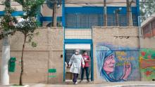 A school in the fabulous favela of Paraisopolis is used as an isolation center for people with coronavirus.