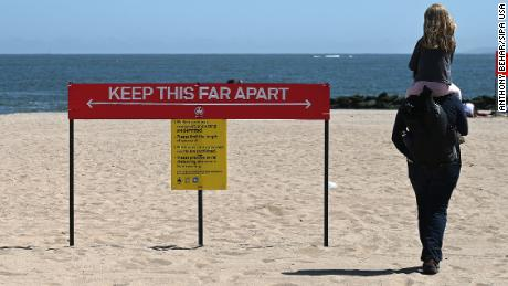 Some beaches will have police to enforce social distance rules during Memorial Day weekend