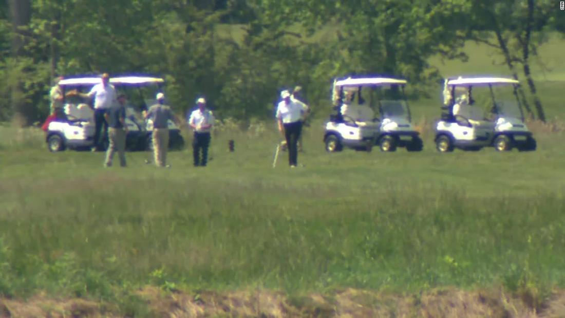 Trump seen golfing at Virginia club amid pandemic
