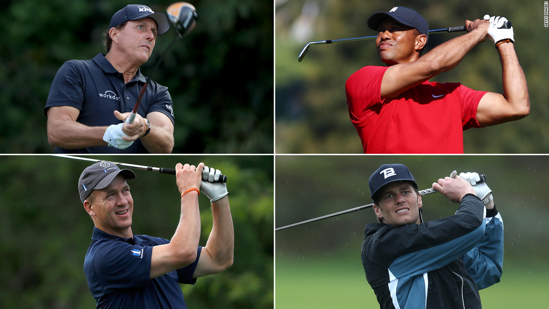 Tiger Woods and Peyton Manning against Phil Mickelson and Tom Brady: time, channel, what to know