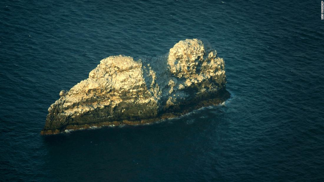 The largest volcano in the world is located under two small rocky peaks in Hawaii