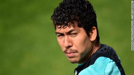Roberto Firmino's curls rival those of teammate Mo Salah.