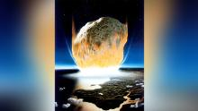 The asteroid that wiped out most of life on Earth was an outbreak of bacteria. They were the first organisms to recover