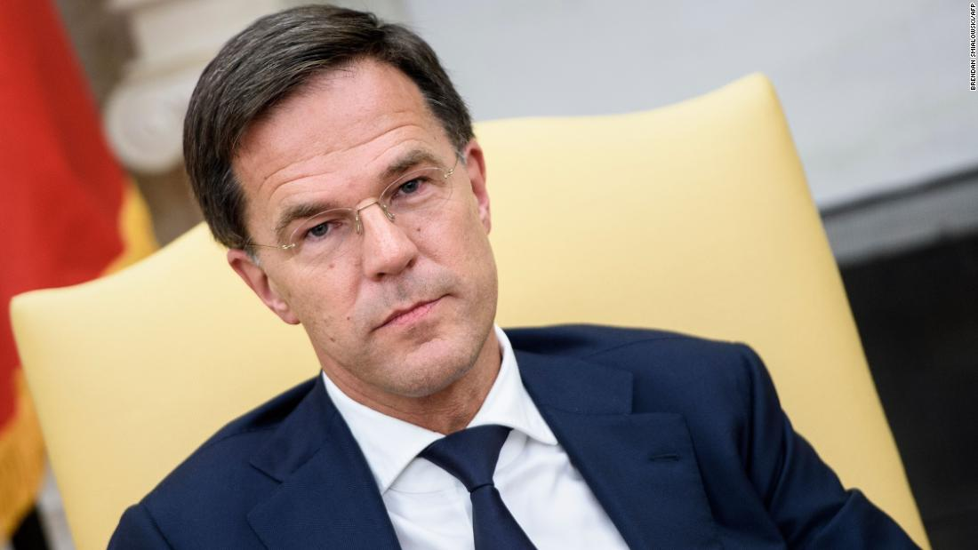 Dutch Prime Minister Mark Rutte waits for a meeting with US President Donald Trump in the White House in July 2018.