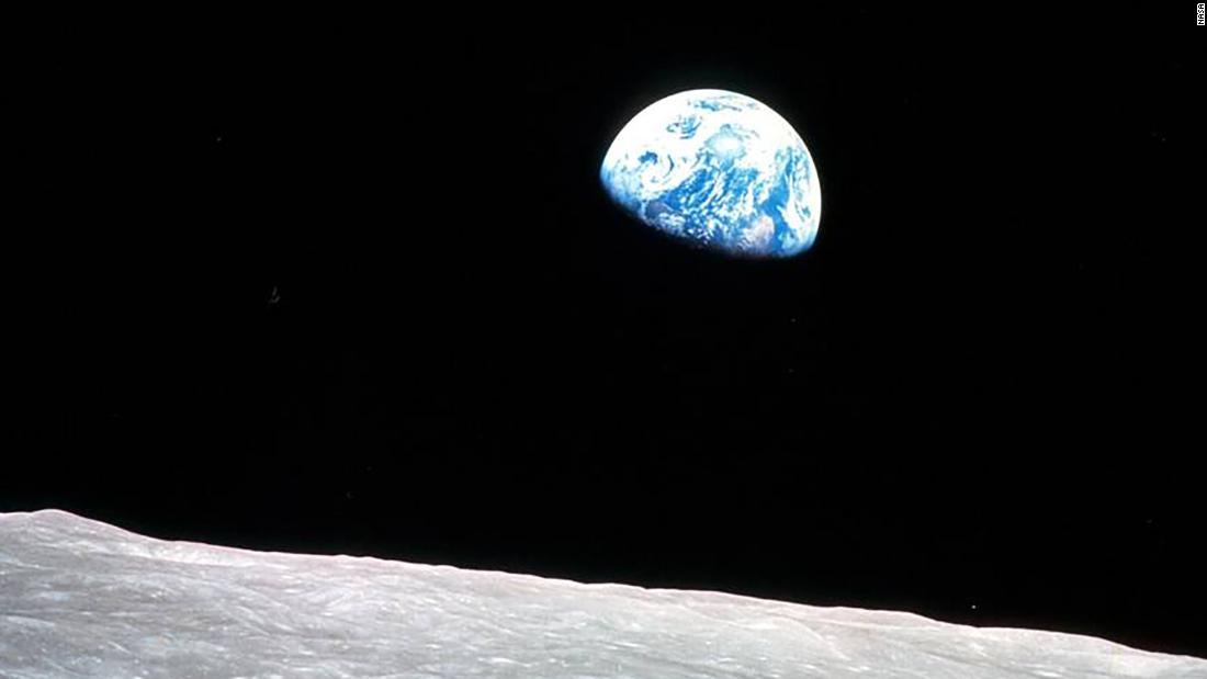 Earth seen from Apollo 8, the first manned mission to the moon.