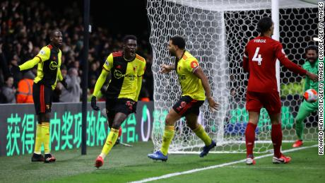 Watford stunned Liverpool for inflicting the Reds & # 39; first defeat of the season in the Premier League.