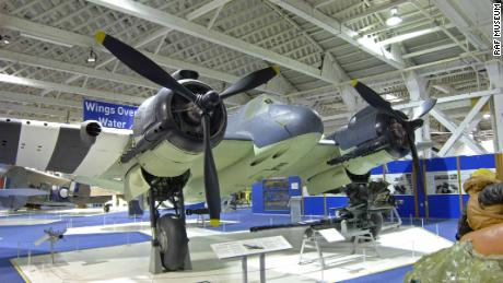 A well-preserved example of Bristol Beaufighter TF.X at the RAF Museum in London.