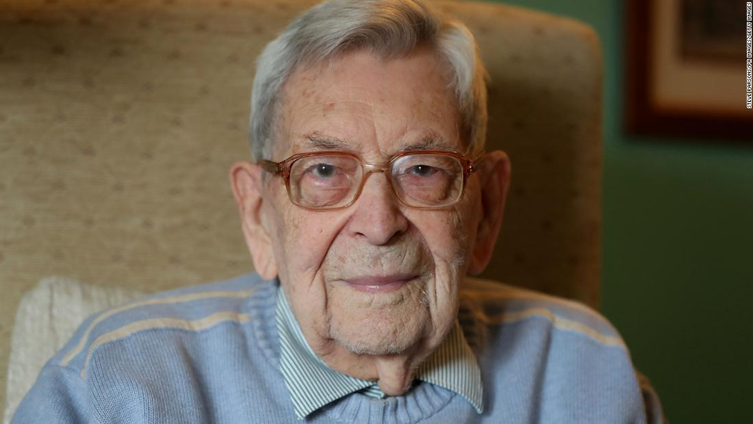 Robert Weighton, pictured here in 2018, has died age 112.