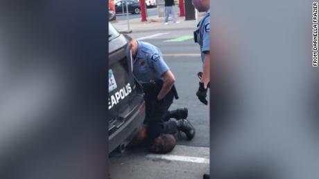 4 Minneapolis policemen fired after the video showed a kneeling on the neck of a black man who then died