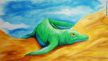 This extinct marine predator began as a small watertight hybrid with strange teeth