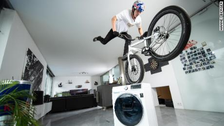 Wibmer describes how to ride a bike at home