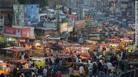 The old city of Hyderabad, the capital and largest city of the state of southern India in Andhra Pradesh.