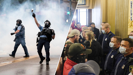 The only protest images tell the story of the American racial hierarchy