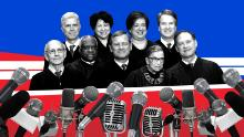 Supreme Court judges are doing well on the phone. It can affect who wins