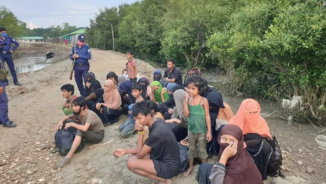 Rohingya refugees arrive in Bangladesh, after being stranded at sea for weeks.