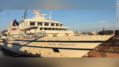 Venezuelan cruise ship for cargo ships of passenger ships, is damaged, sinks