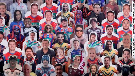 Fans can pay for cardboard clippings on their own around NRL land.