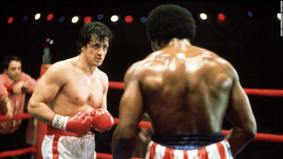 """""""Rocky"""" shot Sylvester Stallone to stardom and took the Academy Award for Best Picture in 1977."""
