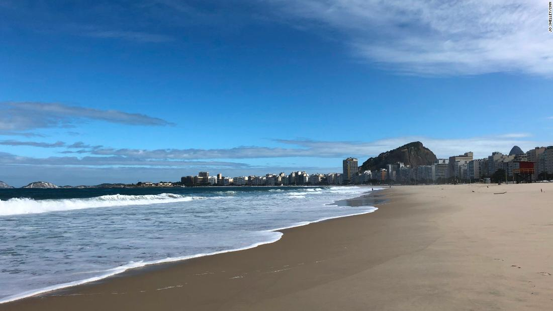 World famous beach emptied by coronavirus