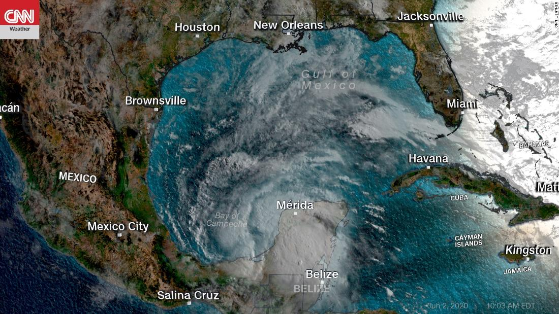 Tropical storm Cristobal becomes the first third Atlantic storm ever named
