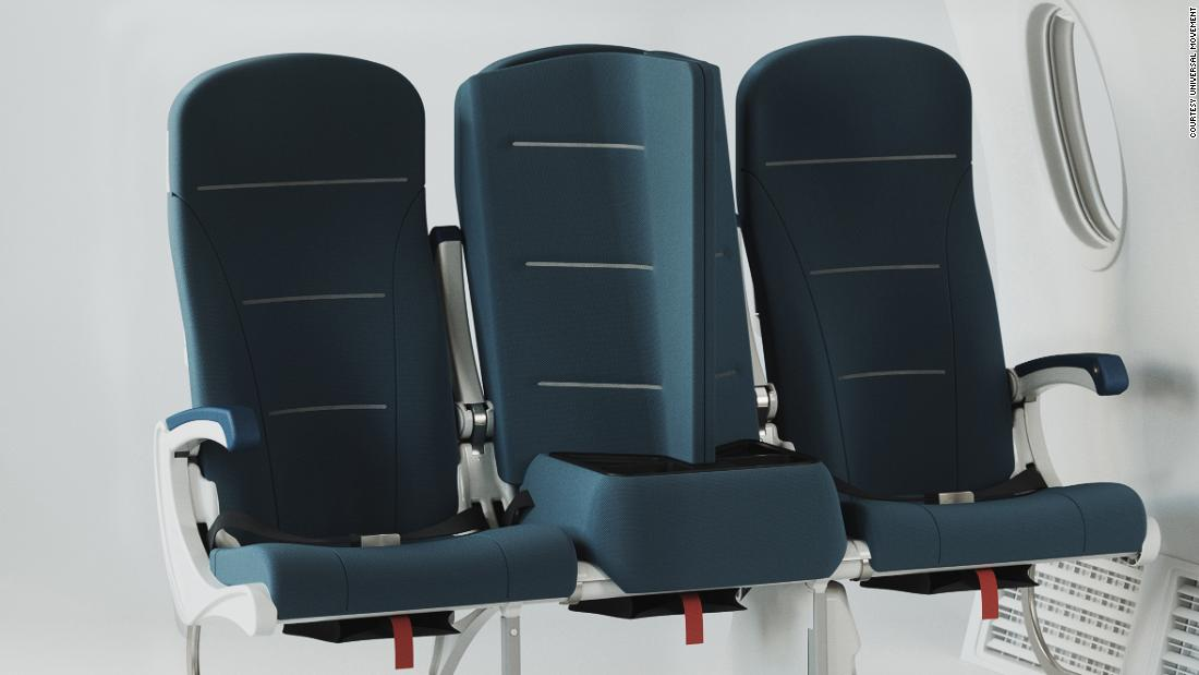 Social remote airplane seat designed to make you forget about the pandemic